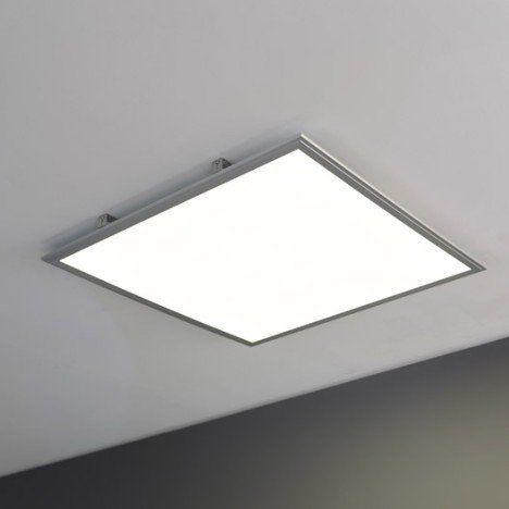 Panneau Led Integree Inspire Carre 60 X 60 Cm 45 W Alu Corniches Plafond Meuble Salle De Bain Une Vasque Led Plafond