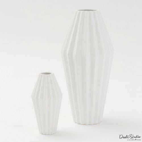 Global Views Milos Matte White Large Vase Ceramic Vase Apartment