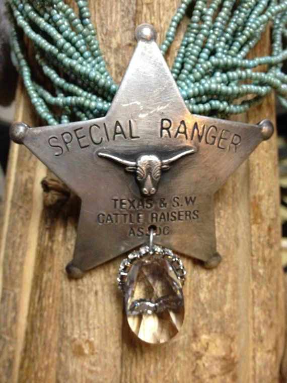 Cowgirl Badge Necklace by therusticchick on Etsy, $55.00