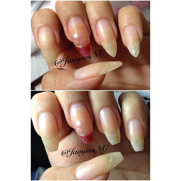 Last week this is the change I made to my natural nails. Made them ...