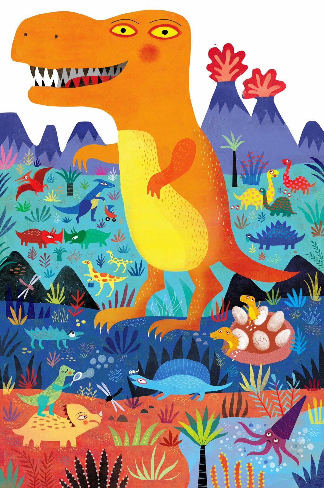 Mariana Ruiz Johnson Illustrations #dinosaurillustration
