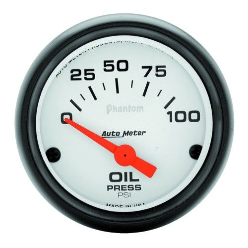 Autometer 5727 Phantom Electric Oil Pressure Gauge  Green