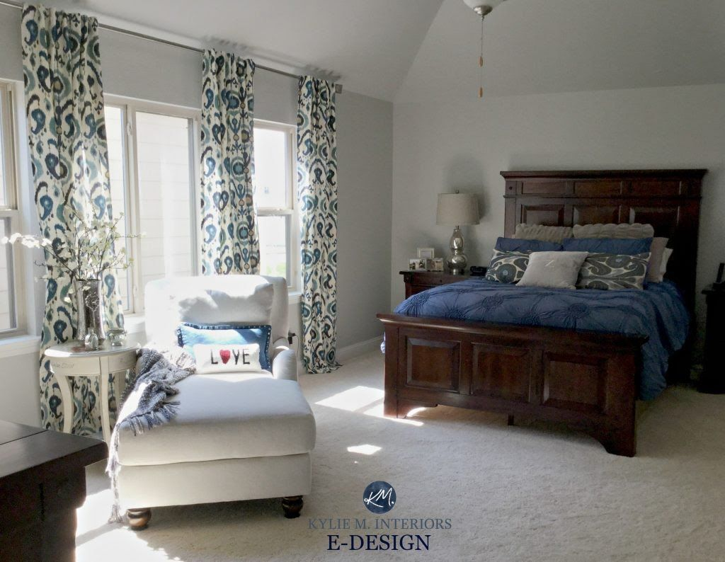 Sherwin Williams Repose Gray Master Bedroom With Dark