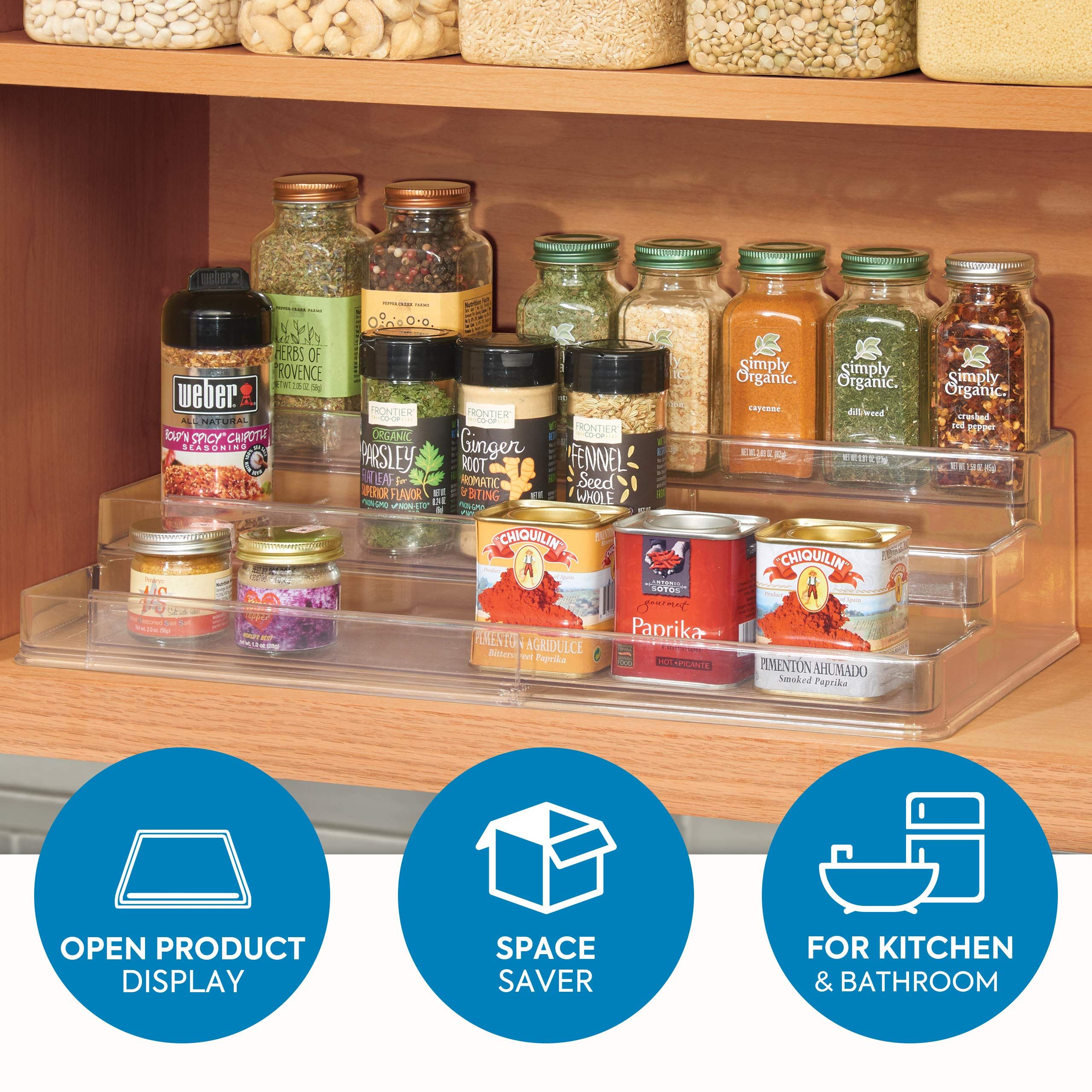 4PC Storage Holder 5 Rack Bottles Shelf Organizer Kitchen Accessories Hanging
