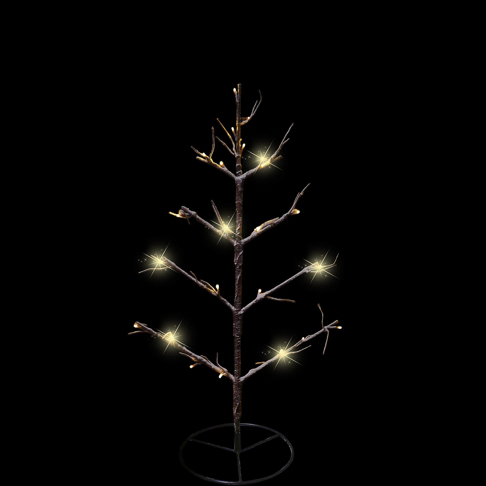 Deze kerstboom heeft LED verlichting en is dus geschikt voor binnen ...