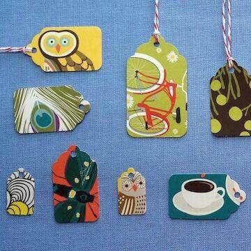 RePurposed Greeting Cards DIY Supplies * Christmas cards, calendars