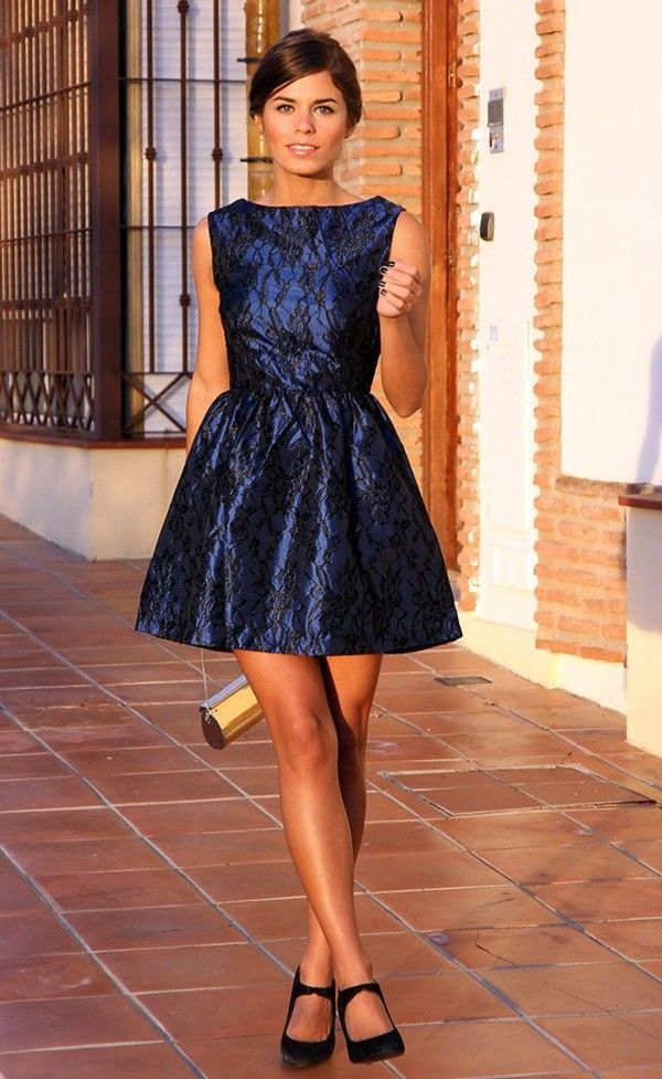 2014 New year's Party Dress, Blue Party Dresses and New