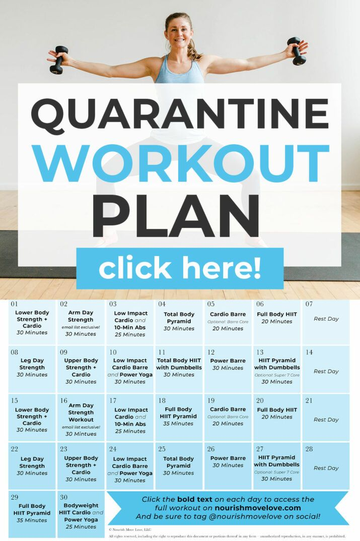 Free 30Day Home Workout Plan in 2020 Workout plan