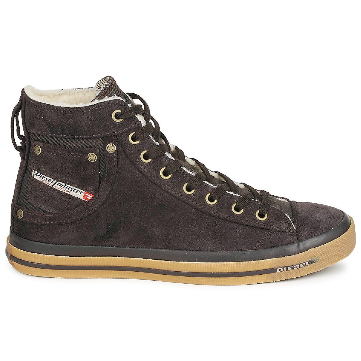 Very Original High Tops For Men By @diesel With Sheepskin