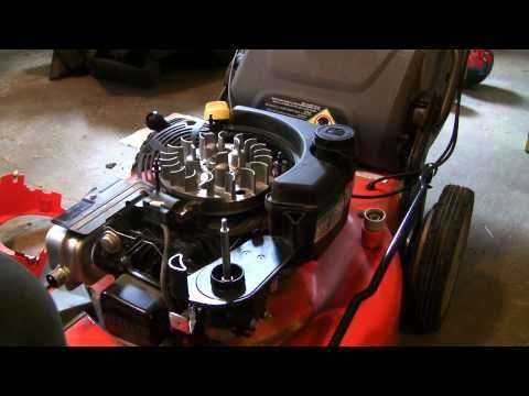 How to fix your lawn mower after hitting rock/stump (Briggs