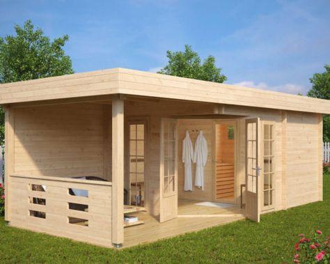 Hansa Lounge Xxl Mit Sauna 22m 70mm 8x5 Gartenhaus Mit Sauna Gartenhaus Holz Und Gartenhaus