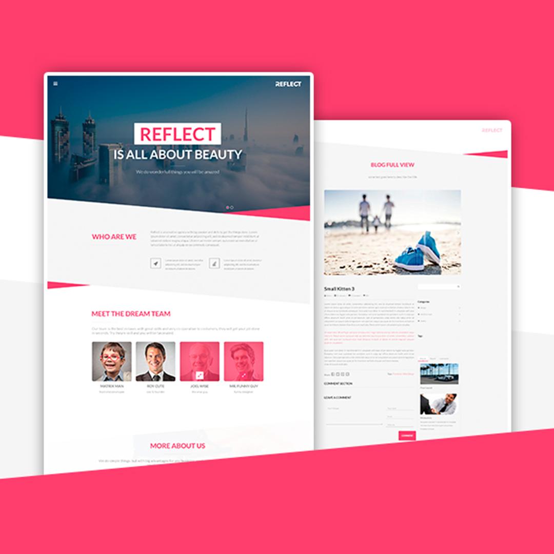 Reflect   Responsive One Page Wordpress Theme by Webark