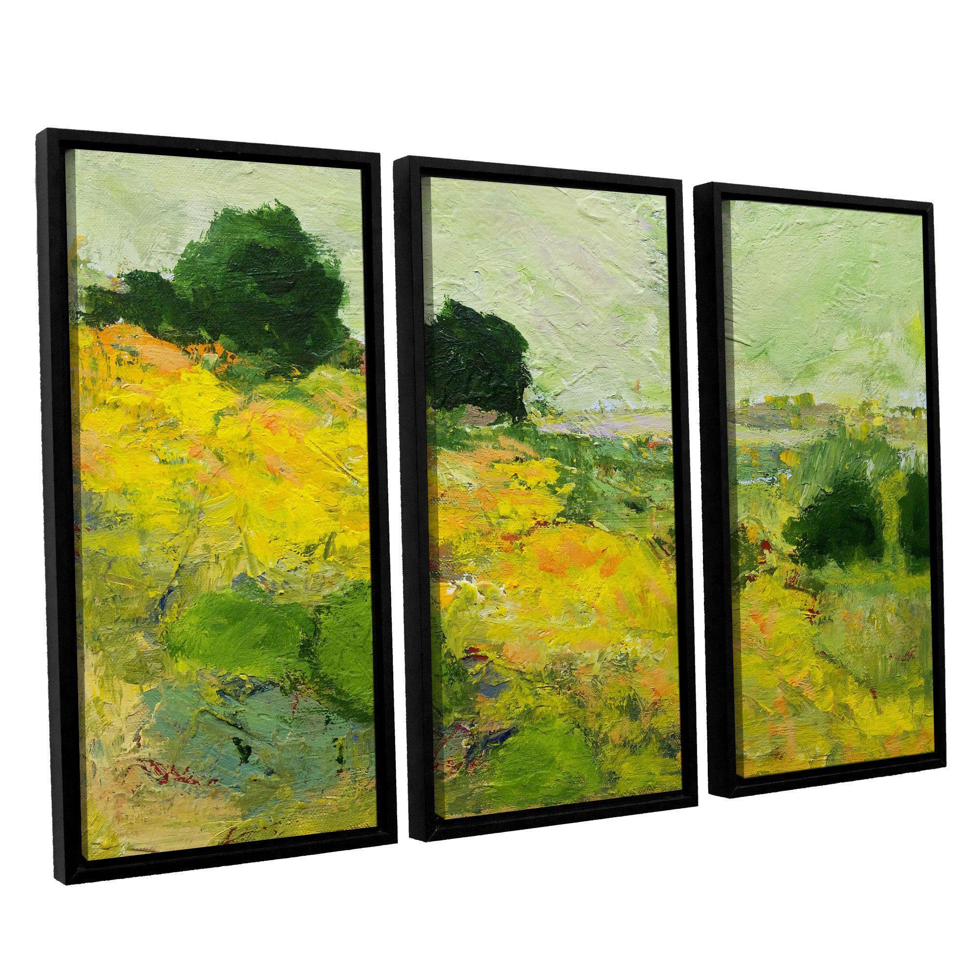 ArtWall Allan Friedlander\'s \'Brighton\' 3-piece Floater Framed Canvas ...