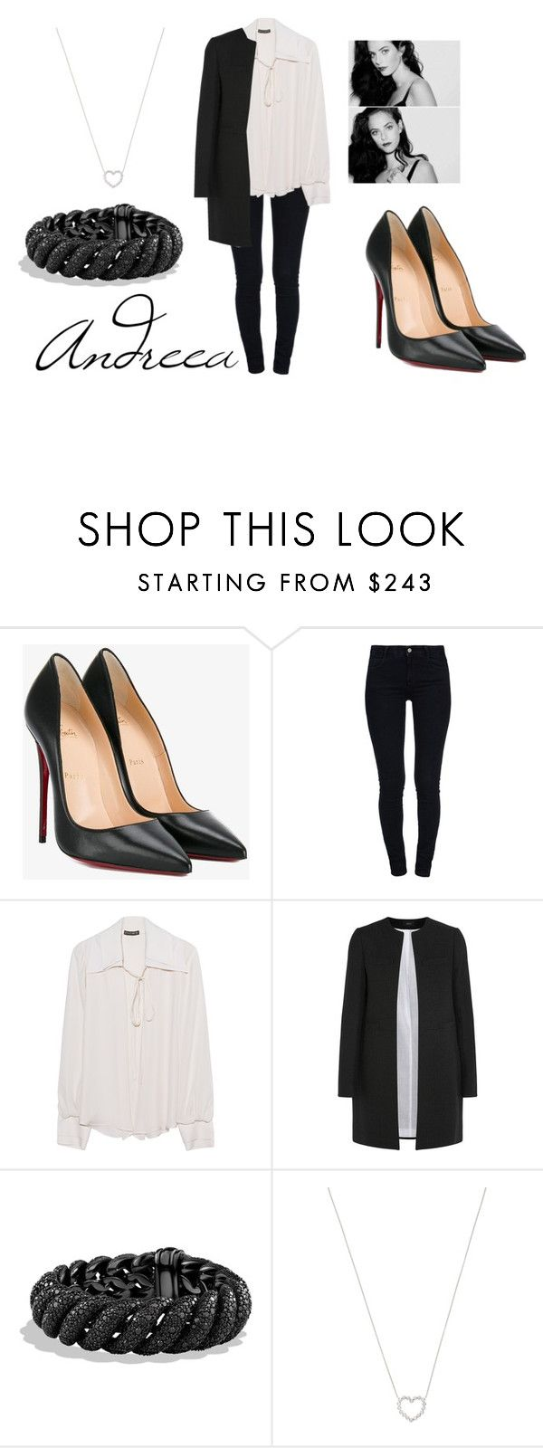 """Untitled #2082"" by andreea0 ❤ liked on Polyvore featuring Christian Louboutin, STELLA McCARTNEY, Plein Sud, Joseph, David Yurman and Tiffany & Co."