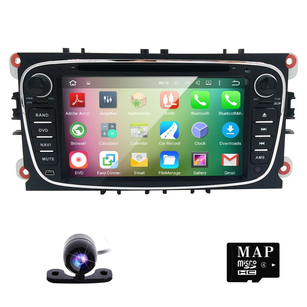 Capacitive Screen 2 Din Quac Core Pure Android 5 1 1 Car Dvd