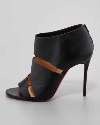 37978c7e298f Christian Louboutin Cachottiere Cutout Red Sole Bootie