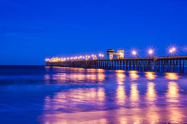 Oceanside Pier by joseph s giacalone. #buyphoto #buyprints  #interiordesign #decor #giftideas