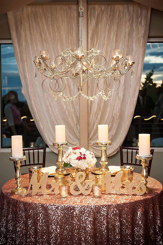 Elegant sweetheart table setup Wedding table setup Head