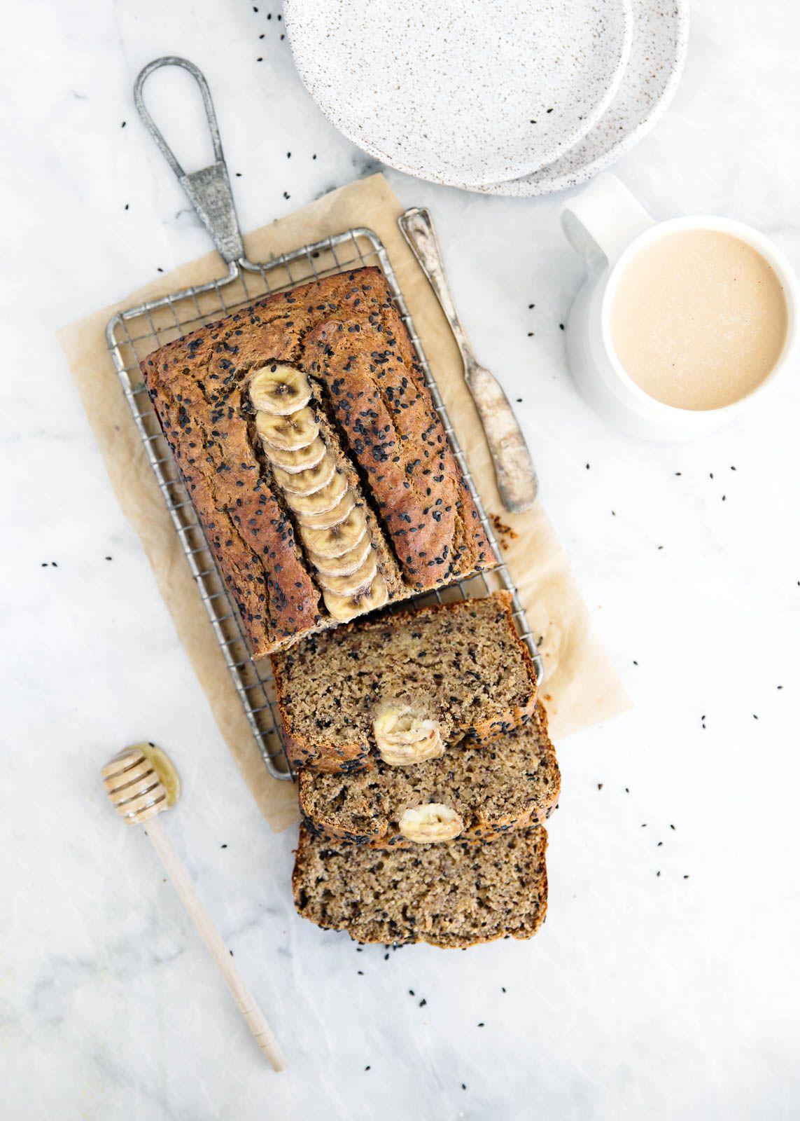 Healthy honey flax tahini banana bread recipe flaxseed tahini banana bread recipes forumfinder Images