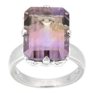 Pearlz Ocean Sterling Silver Bi-color Ametrine Ring available at joyfulcrown.com