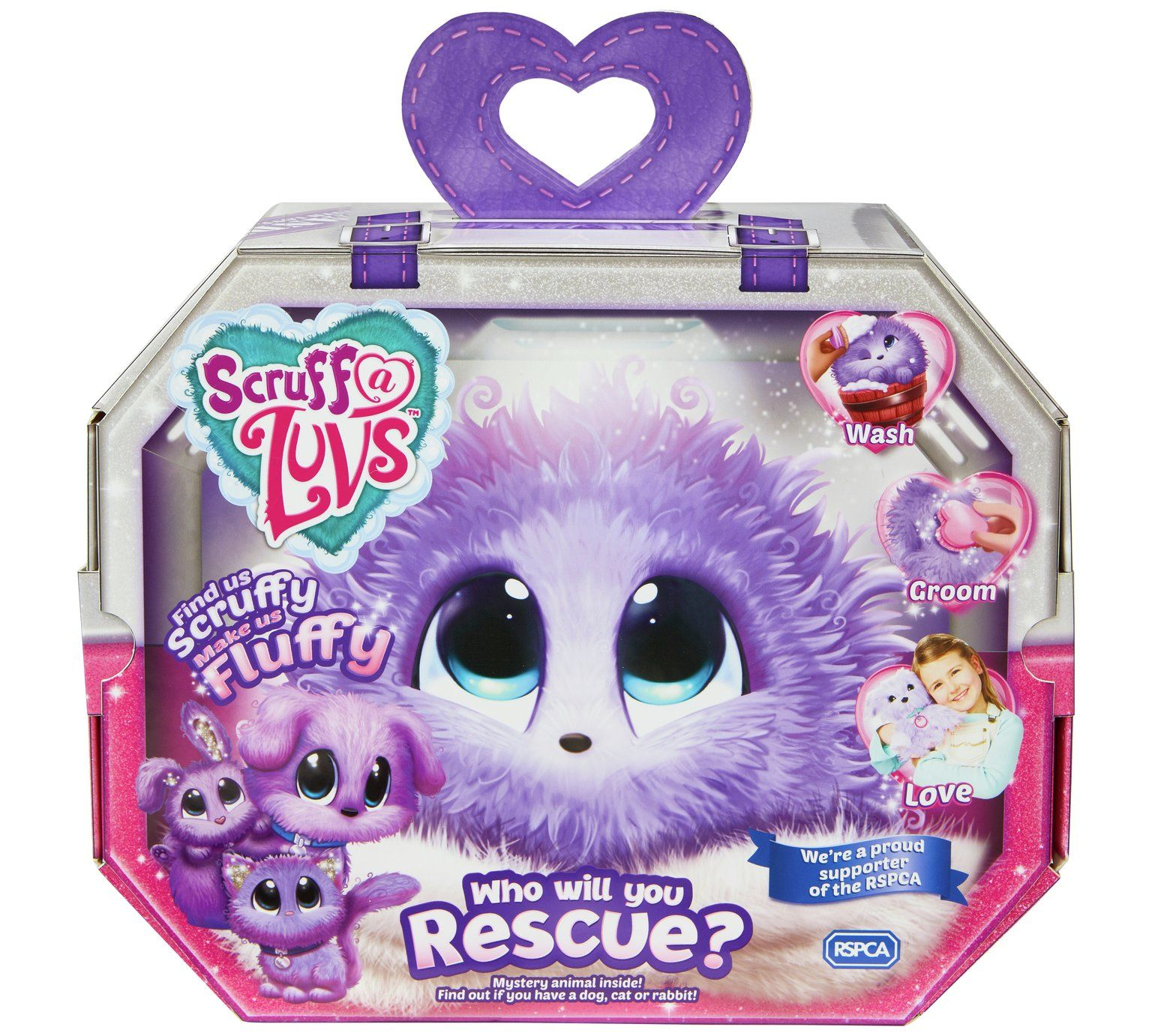 Buy ScruffaLuvs Assortment Purple Teddy bears and