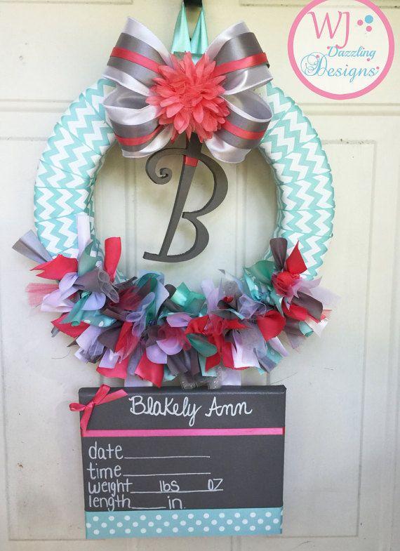 Baby Girl Wreath Baby Hospital Door Wreath By Wjdazzlingdesigns