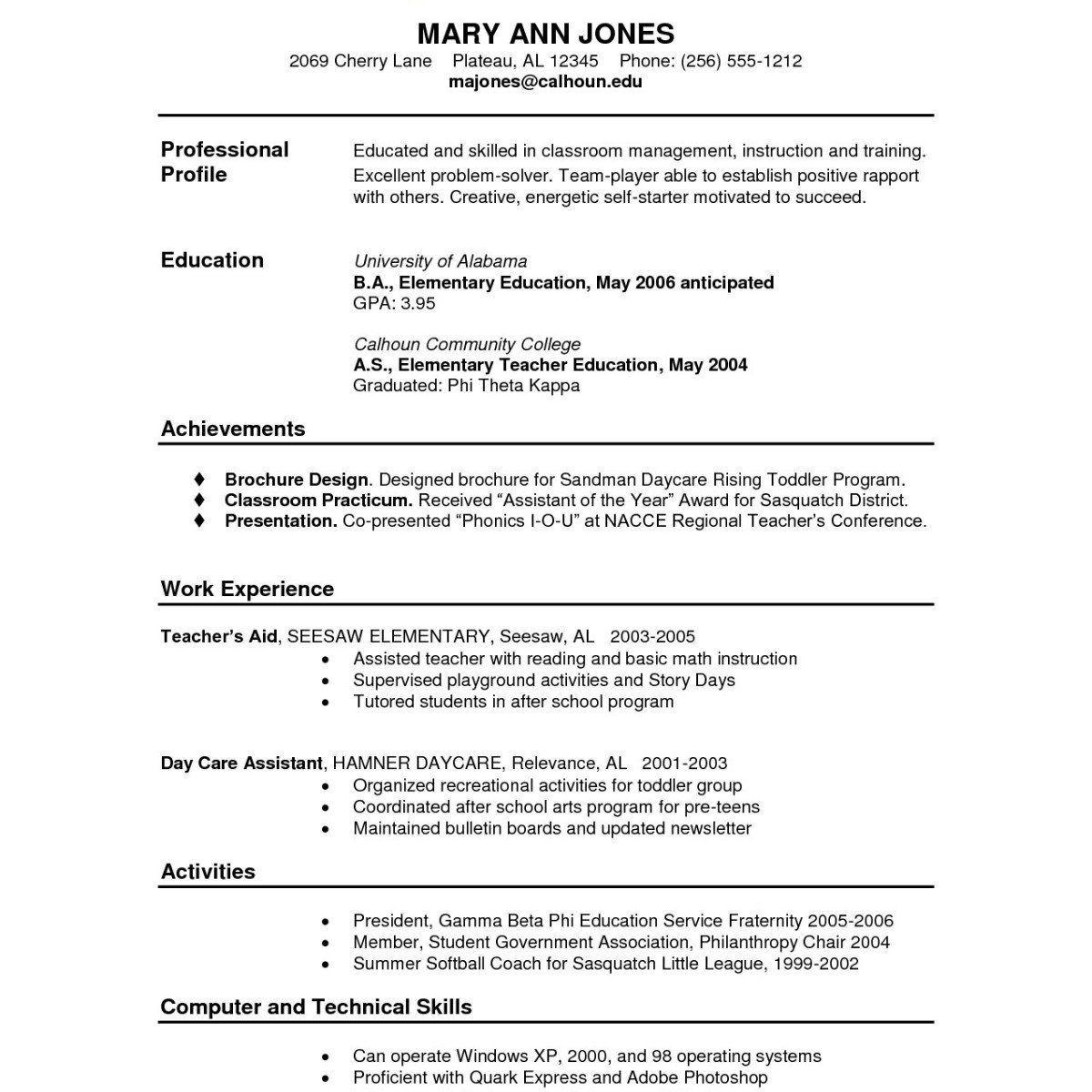 Sample Resume For Community College Teaching Position New 73 Functional Resume Sample Job Resume Examples College Brochure College Resume