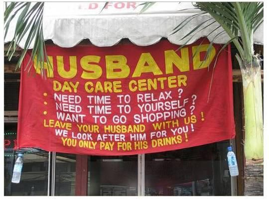Husband day care... Lovely Idea