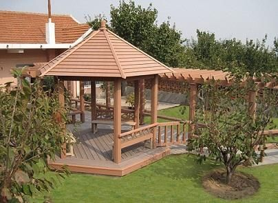 Cheap Wood Plastic Pergola Wholesale Cost Of Composite Supplier