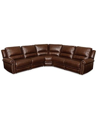 Strange Langston Leather 5 Piece Power Motion Sectional Sofa With 2 Unemploymentrelief Wooden Chair Designs For Living Room Unemploymentrelieforg