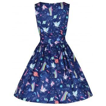 4dcc66e1b166 Audrina' Space Unicorn Print Swing Dress   Clothes!   Unicorn dress ...