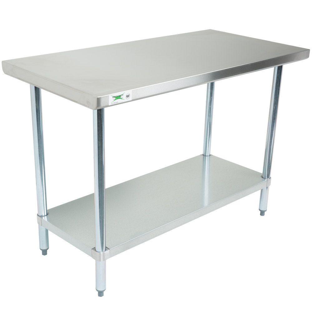 Regency X Gauge Stainless Steel Commercial Work Table - 24 x 48 stainless steel work table