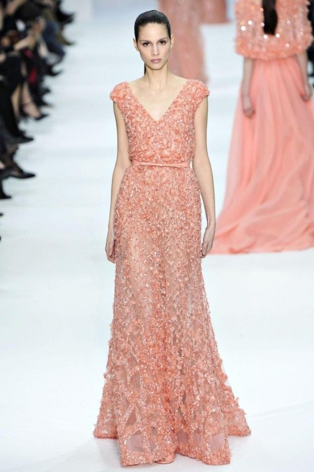 Peach Dress Elie Saab 2012-2013 | style | Pinterest | Vestidos ...