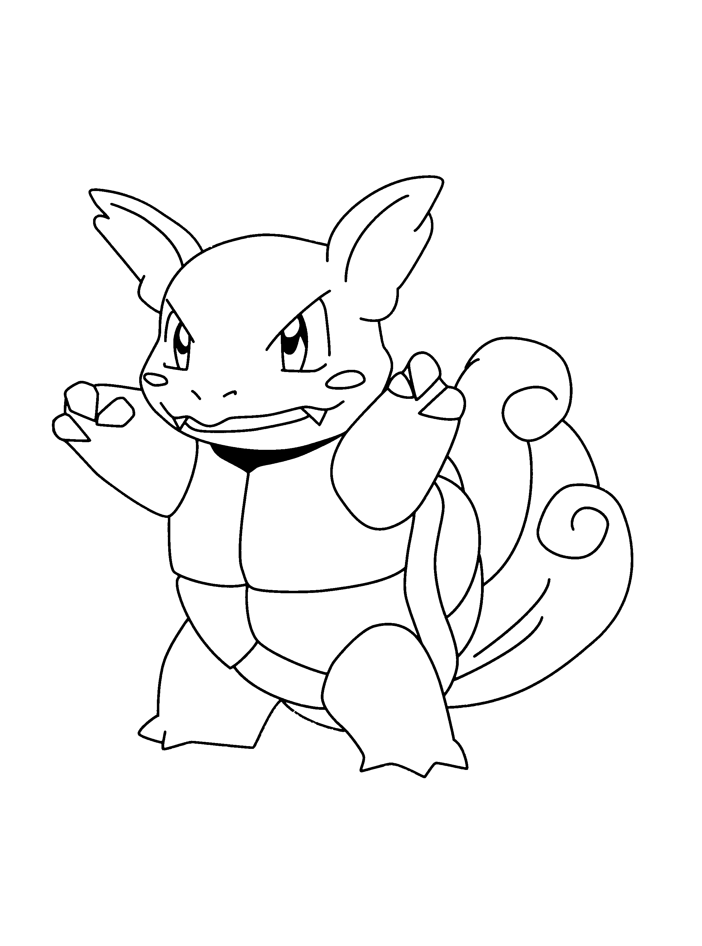 Wartortle Pokemon Coloring Pages Pokemon Coloring Drawings