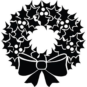 Christmas Wreath Silhouette.Pin Taulussa Silhouette To Do List