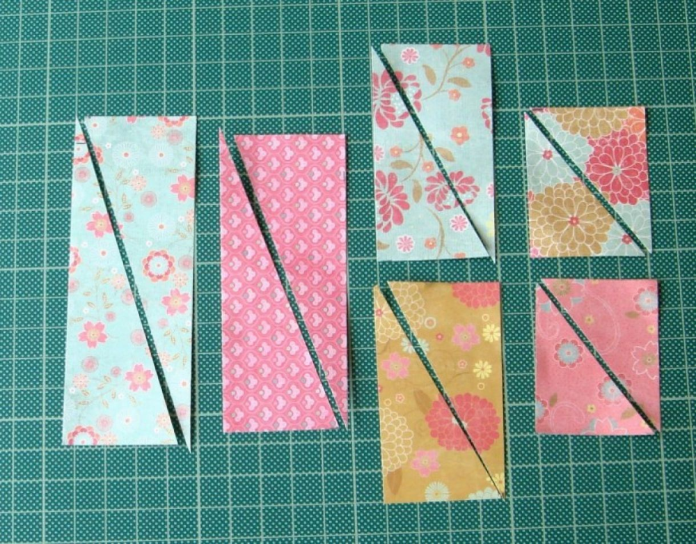 How To Make A Contrast Starburst Card Sunburst Cards Card Patterns Patchwork Cards