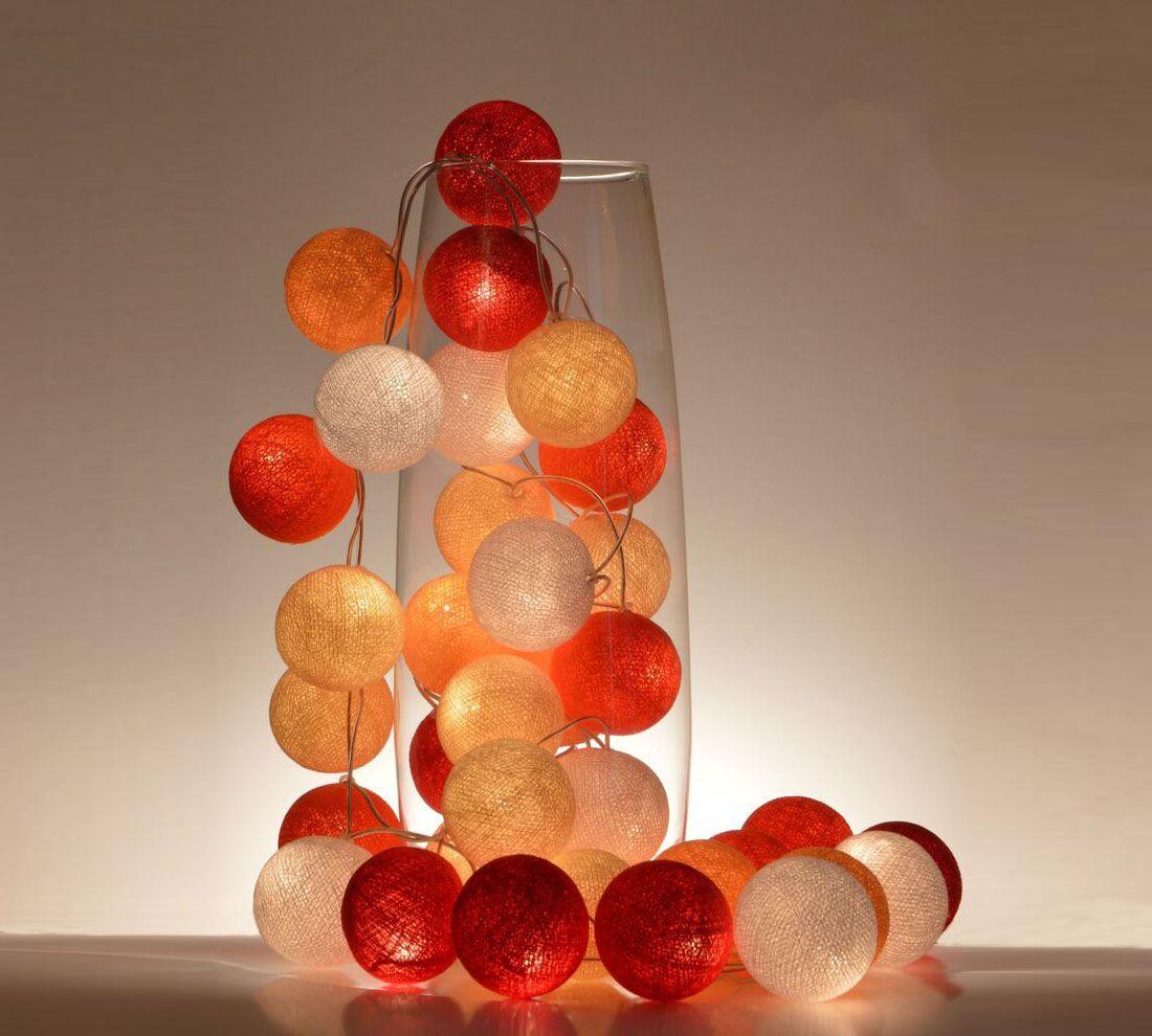 Ghirlanda luminosa Rubino 20 sfere | Ghirlande ...