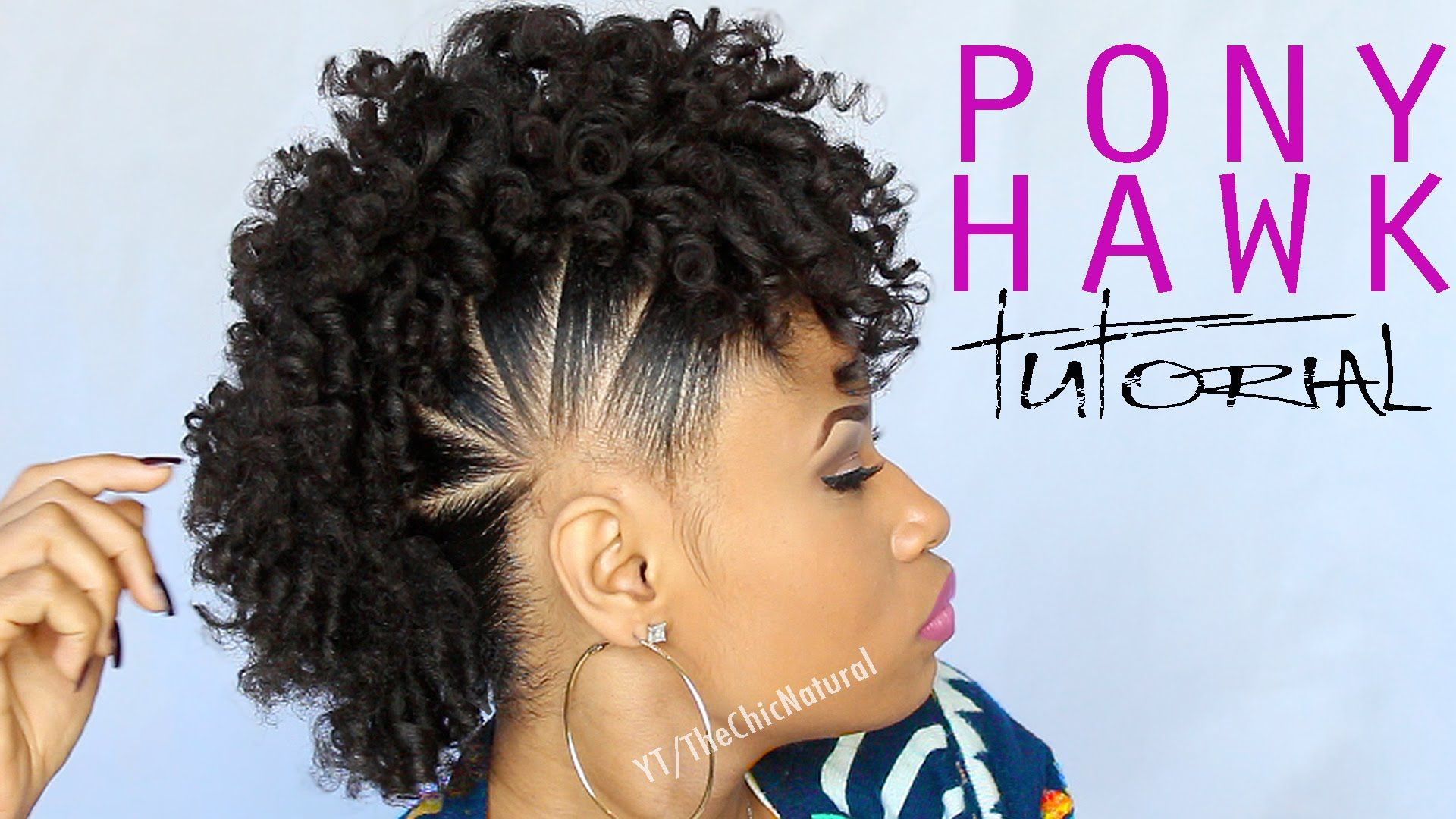 The Pony Hawk Natural Hairstyle Natural Hair Styles Hair Styles Natural Hair Tutorials