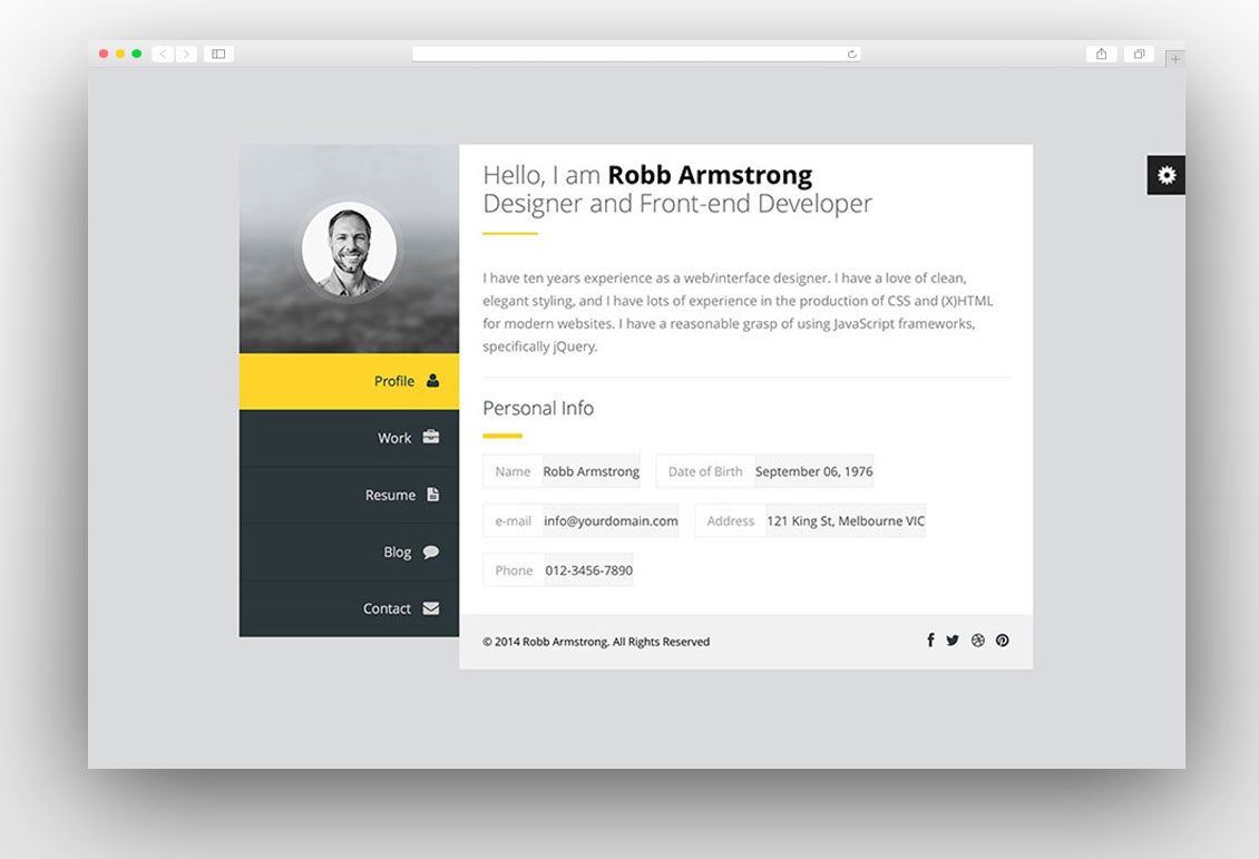 25 Best vCard WordPress Themes for CV and Resume 2017 | vCard ...