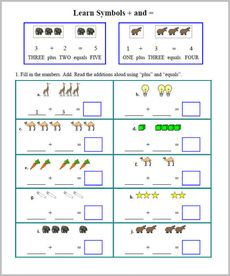 Addition Workbook for kindergarten and grade 1 from K5 ...