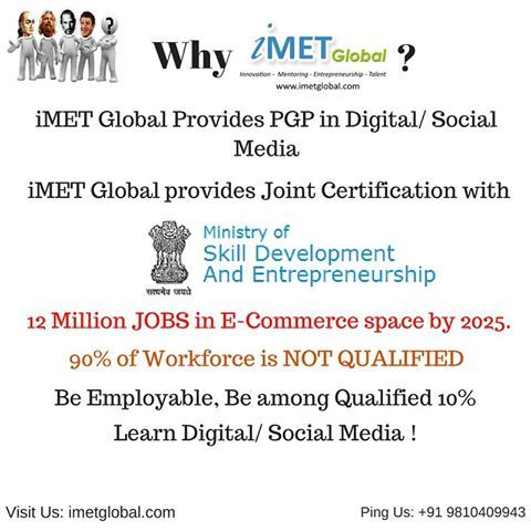 Pin by iMET Global on Digital Marketing \ Social Media Course - digital marketing job description