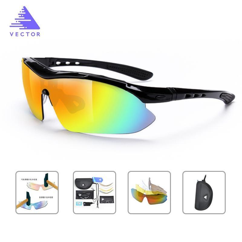 325bf5523e Gafas Polarizadas Hombre / Mujer Ciclismo carretera ,Mountan bike ,  Senderismo Con 5 Lentes Polarizadas Intercambiables