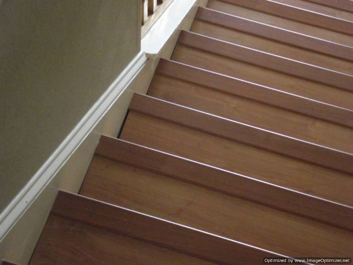 Laminate On Stairs With Bad Installation, This Is Not The Way You Want Your  Stairs To Look After Laminate Flooring Is Installed On Your Stairs.