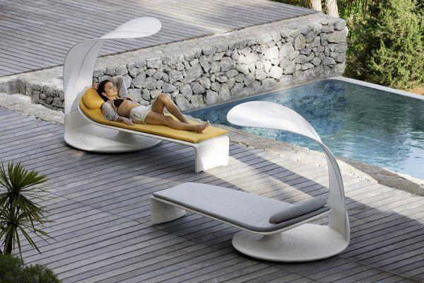 ultra modern sun loungers contemporary