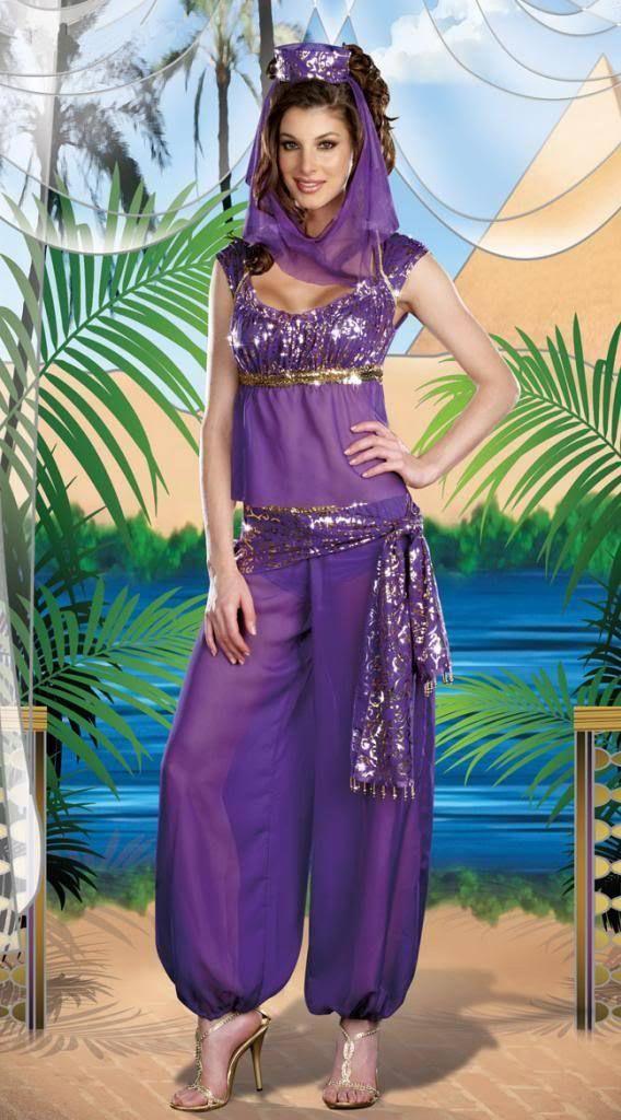 0a7c4b54ef54 Genie Jasmine Aladdin Princess Adult Costume Fancy Dress Arabian Belly  Dancer   eBay