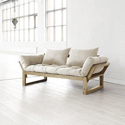 Amazon.com: Fresh Futon Edge Convertible Futon Sofa/Bed, Natural ...