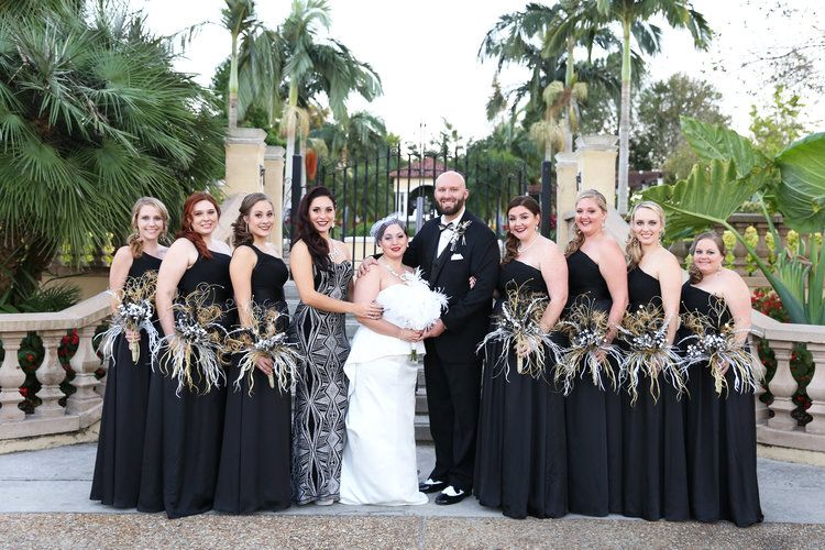 Brittany And Tyler An Art Deco New Years Eve Wedding Winsor Event Studio New Years Eve Weddings Prom Dresses Long Black Wedding