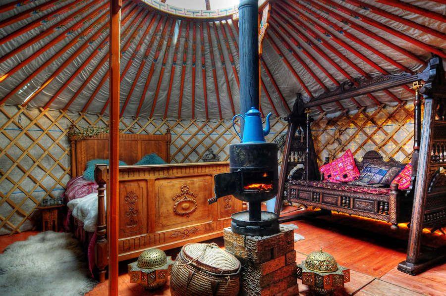beautiful yurt interiors with share | tipi & yurt | pinterest