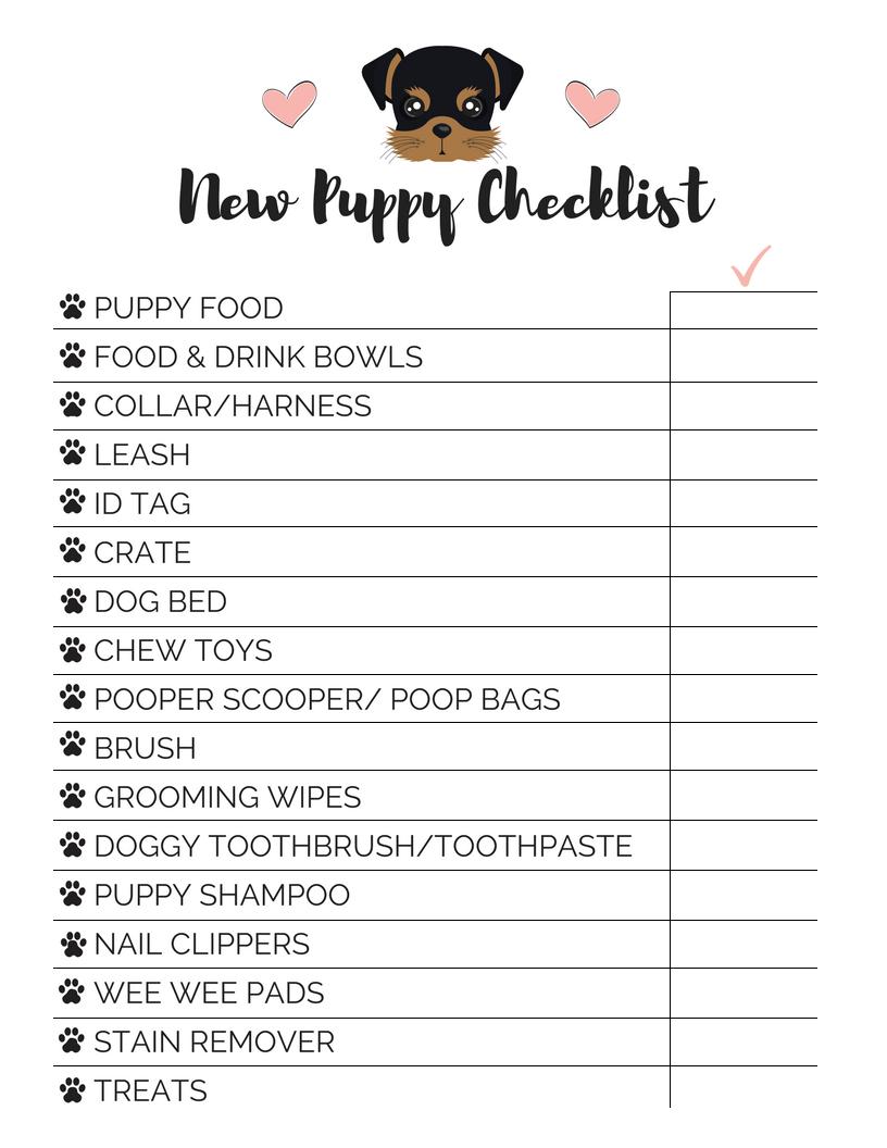 New Puppy Checklist Hirschfeld Apartment Homes New Puppy Checklist Puppy Checklist New Puppy