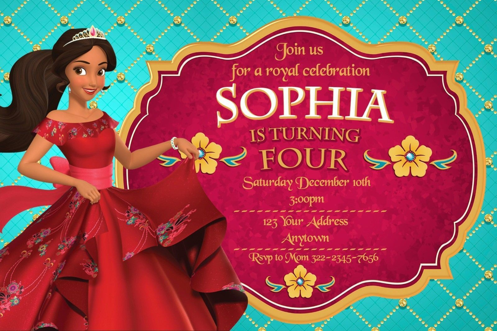 ELENA OF AVALOR Birthday party invitations personalized You print ...